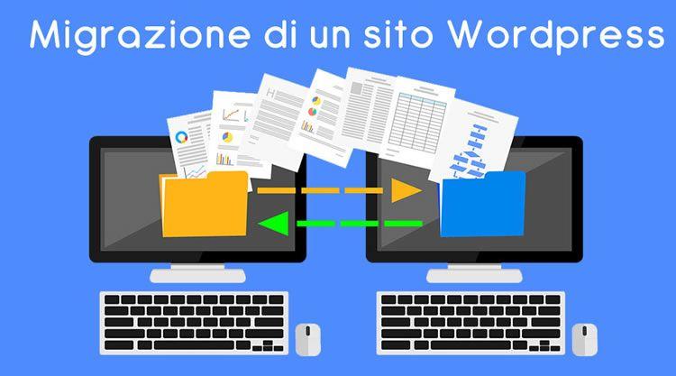 spostare wordpress