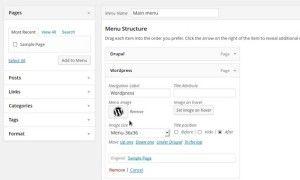 menu image wordpress