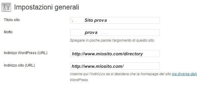 spostare sito wordpress