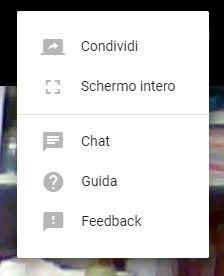 condivisione schermo hangouts