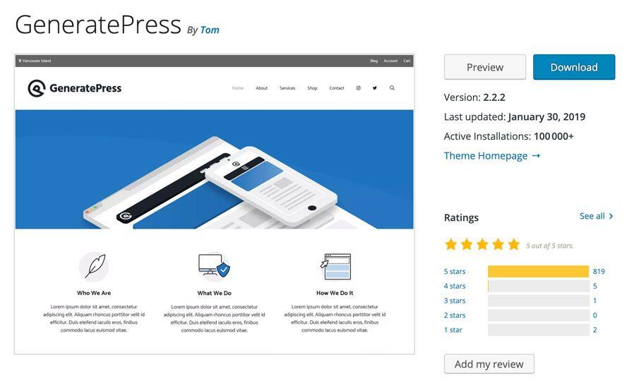 temi veloci wordpress