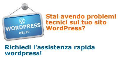 assitenza rapida wordpress